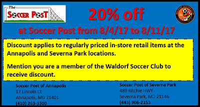 Soccer Post Discount Days